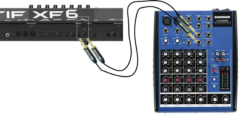 Connecter un clavier - Table de mixage avec carte son integree ...